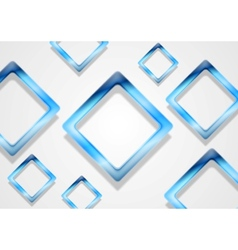 Blue shiny squares on white background vector
