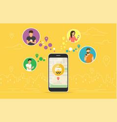 Booking taxi online concept design vector