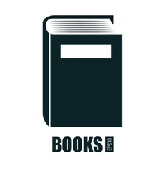 books isolated design vector image