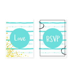 Bridal shower set with dots and sequins wedding vector