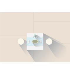 Bright zen room vector image