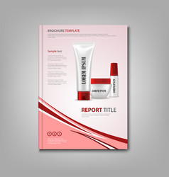 Brochures book or flyer with cosmetic vector