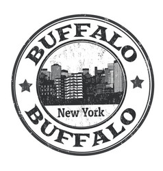 buffalo sign or stamp vector image