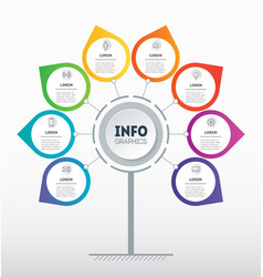 business presentation or circular infographics vector image