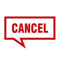 Cancel sign cancel square speech bubble cancel vector