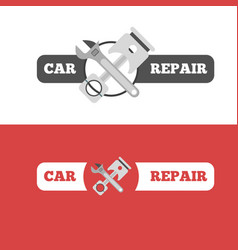 Car repair service branding vector