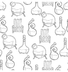 Chemistry lab pattern vector
