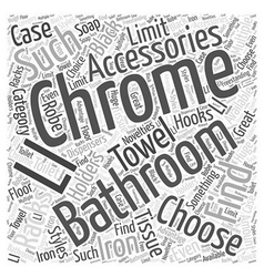 chrome bathroom accessories Word Cloud Concept vector image