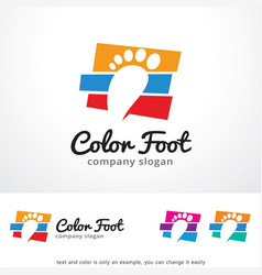 Color foot logo template design vector