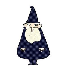 Comic cartoon wizard vector