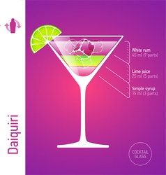 Daiquiri cocktail vector