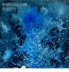 Deep blue watercolor cosmic background vector