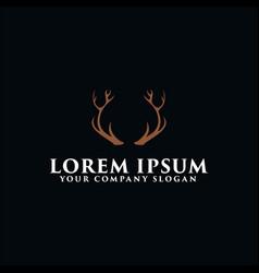 deer antlers logo design concept template vector image
