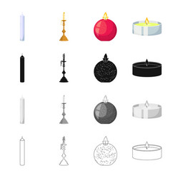 Design relaxation and flame icon vector