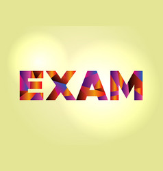 exam concept colorful word art vector image