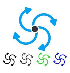 Fan rotation flat icon vector