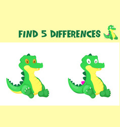 find differences education game for children vector image