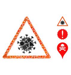Flare mesh carcass sars virus warning with flare vector