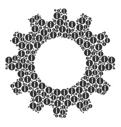 Gear composition of info icons vector