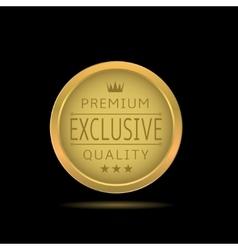 Golden exclusive label vector