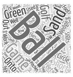 Golf Beginner Basics IV Word Cloud Concept vector image
