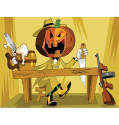 halloween detective vector image