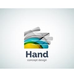 Hand logo template vector