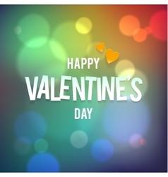 Happy Valentine s Day Bokeh Rainbow vector image