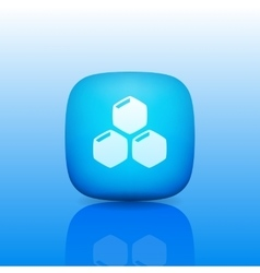 Honeycomb Icon logo vector image