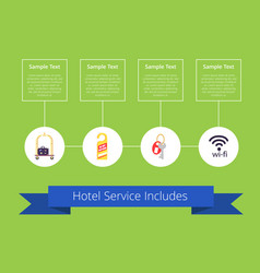 hotel service includes on vector image