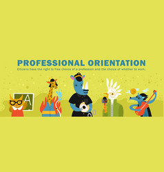 Humanized animals professional orientation vector