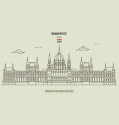 Hungarian parliament building in budapest vector