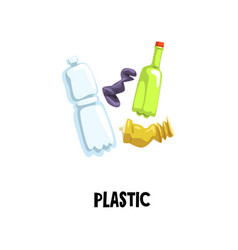 Information icon about plastic waste empty tube vector