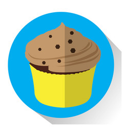 Isolated cupcake icon vector