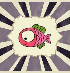 Japanese watercolor carps koi swimming format vector