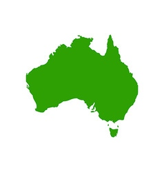 Map of Australia 380x400 vector image