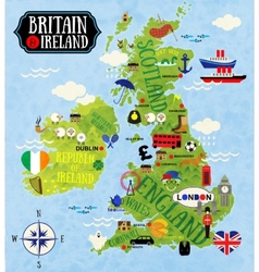 Maps britain and ireland vector