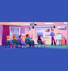 modern classroom lesson coach training or seminar vector image