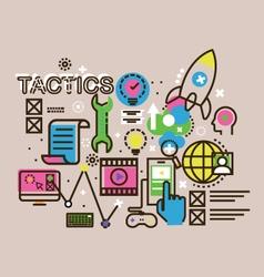 Modern thin line design concept for tactics icon vector