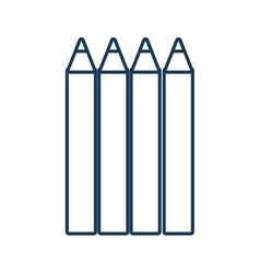 Pencils drawing object vector