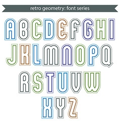 Poster light elegant font with outline vector