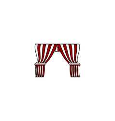 red curtain logo designs inspiration isolated on vector image