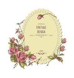 Retro greeting card vector