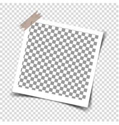 Retro photo frames with shadows vector