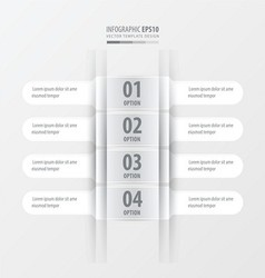 Rounded banner set white color vector