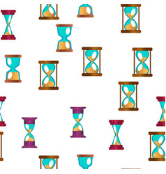 sandclock icon set seamless pattern vector image