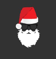 santa claus head color design vector image