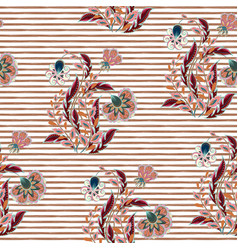 Seamless floral pattern with hand draw fantasy vector