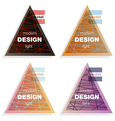 set abstract colorful triangle dynamic splash vector image