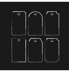 Set black colored paper tag badge vector image